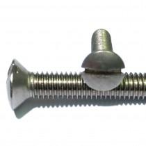 Slotted Raised Countersunk Head Machine Screws