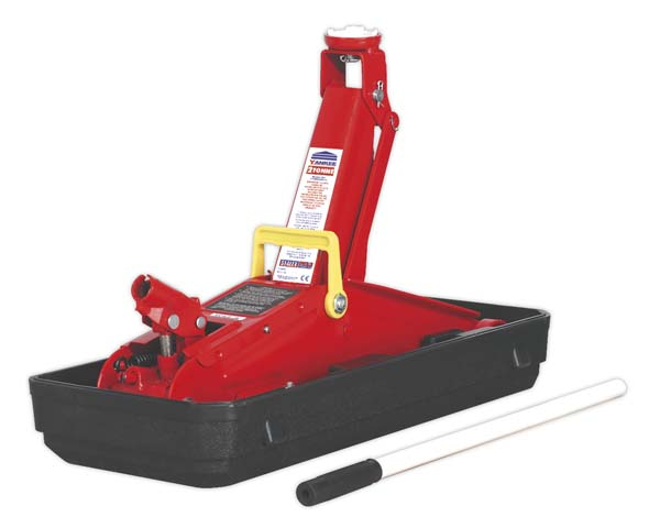 Sealey - 1100CXD  Trolley Jack 2tonne Short Chassis with Storage Case