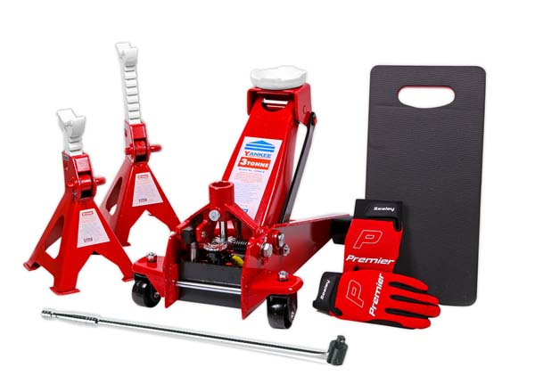 Sealey Trolley Jack 3tonne Combo