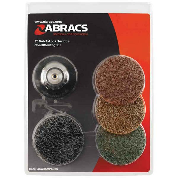"""Abracs  3"""" ROLOC SURFACE CONDITIONING KIT"""
