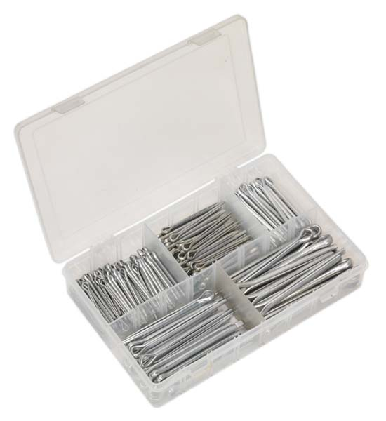 Sealey - AB003SP  Split Pin Assortment 230pc Large Sizes Imperial & Metric
