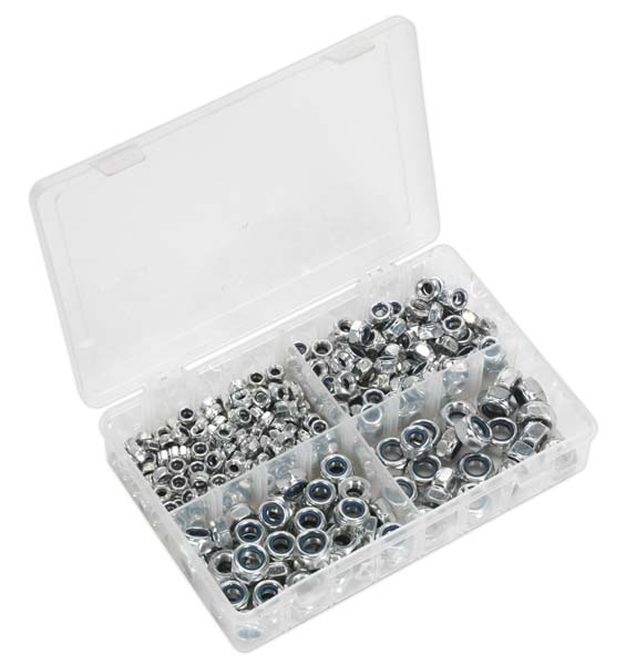 Sealey - AB032LN  Nylon Lock Nut Assortment 300pc M6-M12 DIN 982 Metric