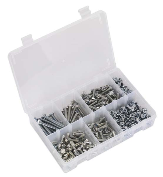 Sealey - AB050SNW  Setscrew, Nut & Washer Assortment 408pc High Tensile M6 Metric
