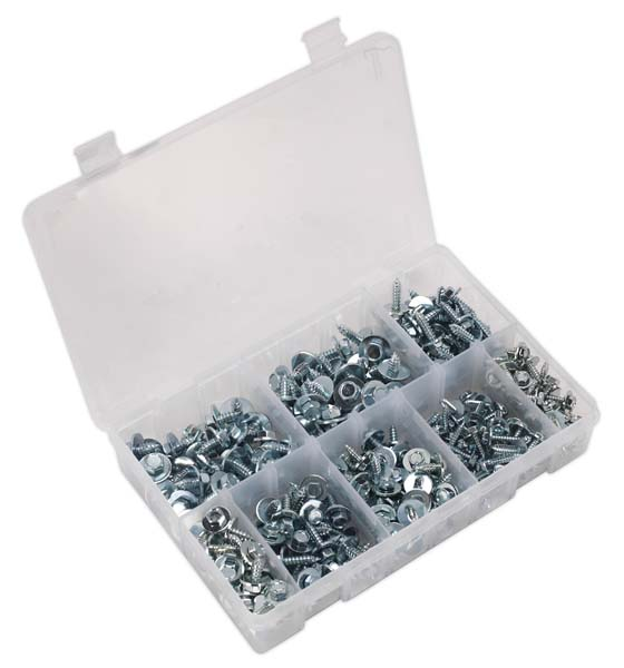 Sealey - AB067SM  Acme Screw with Captive Washer Assortment 300pc Zinc BS 4174CZ