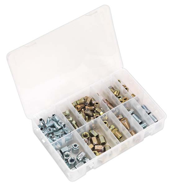 Sealey - AB068BPN  Brake Pipe Nut Assortment 200pc - Metric & Imperial