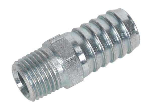 "Sealey - AC40  Screwed Tailpiece Male 1/4""BSPT - 1/2"" Hose Pack of 5"