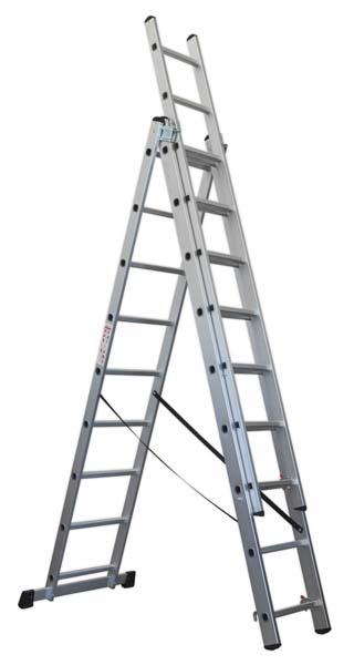 Sealey - ACL3  Aluminium Extension Combination Ladder 3x9 EN 131