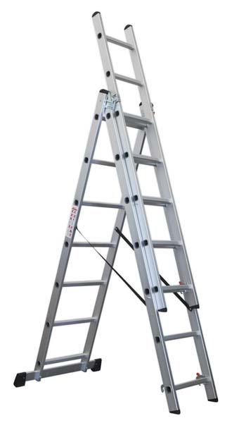 Sealey - ACL307  Aluminium Extension Combination Ladder 3x7 EN 131