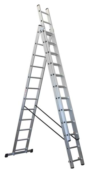 Sealey - ACL312  Aluminium Extension Combination Ladder 3x12 EN 131