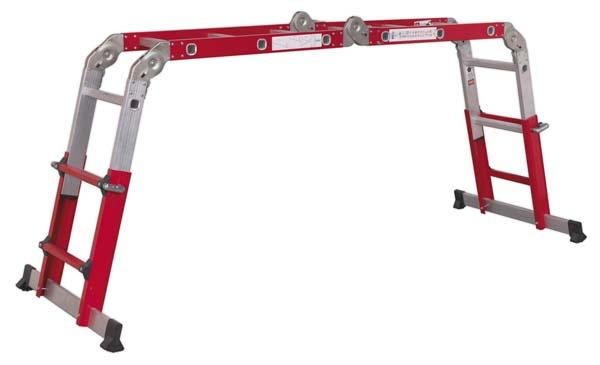 Sealey - AFPL2  Aluminium Multipurpose Ladder EN 131 Adjustable Height