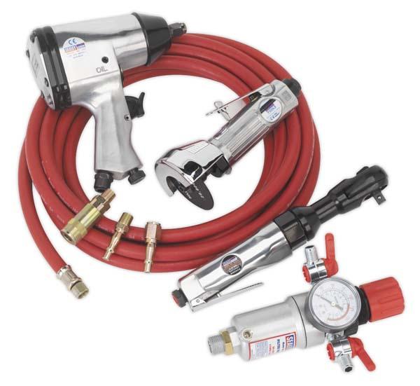 Sealey Air Tool Kit Package (SA2, SA20/S, SA25, SA2FR, AHC5, ACX60)