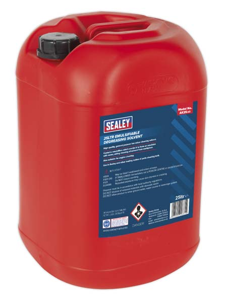 Sealey - AK25  Degreasing Solvent Emulsifiable 25ltr