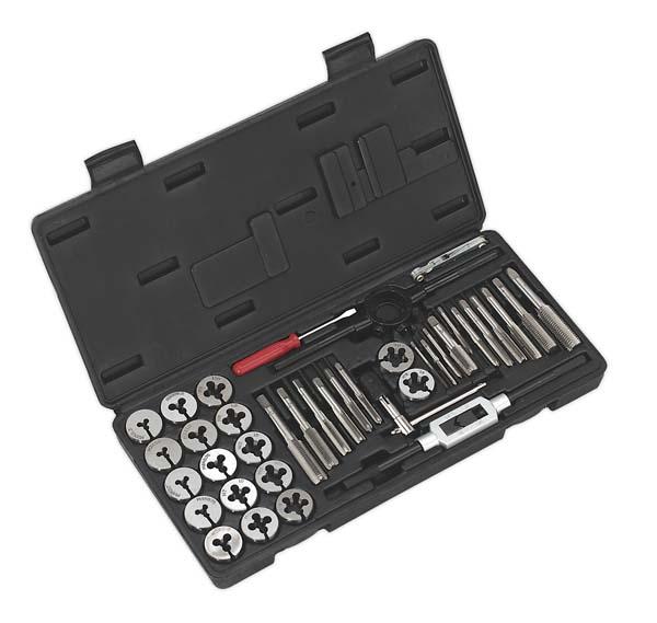 Sealey - AK3012  Tap & Die Set 40pc Split Dies Metric