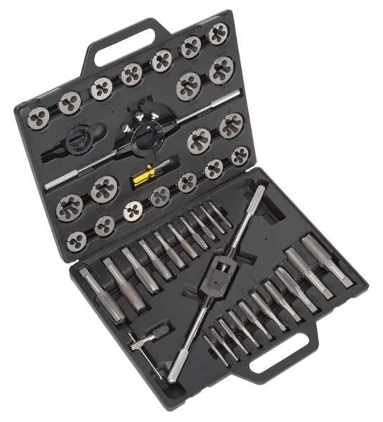 Sealey - AK303IMP  Tap & Die Set 45pc Split Dies Imperial