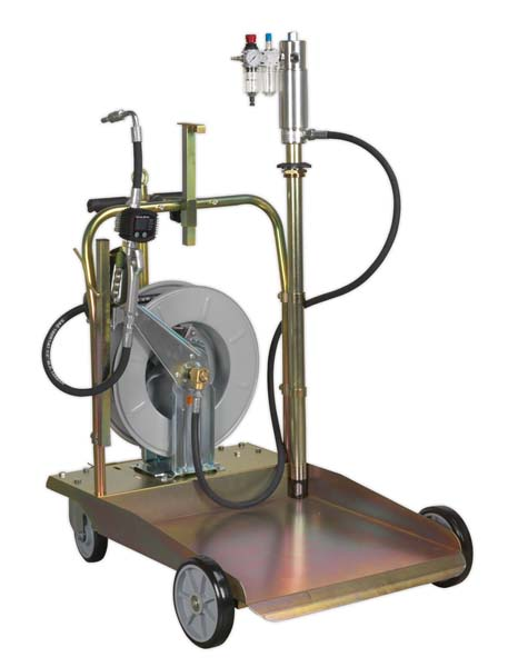 Sealey - AK4562D  Oil Dispensing System Air Operated with 10mtr Retractable Hose Reel