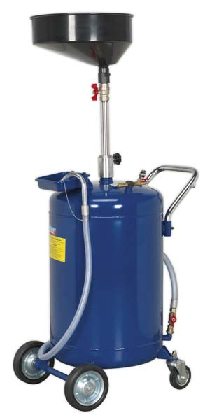 Sealey - AK458DX  Mobile Oil Drainer 110ltr Air Discharge