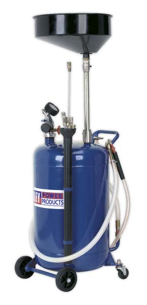 Sealey - AK459DX  Mobile Oil Drainer with Probes 90ltr Air Discharge