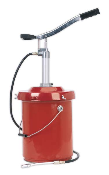 Sealey - AK45X  Bucket Greaser with Follower Plate 12.5kg Heavy-Duty