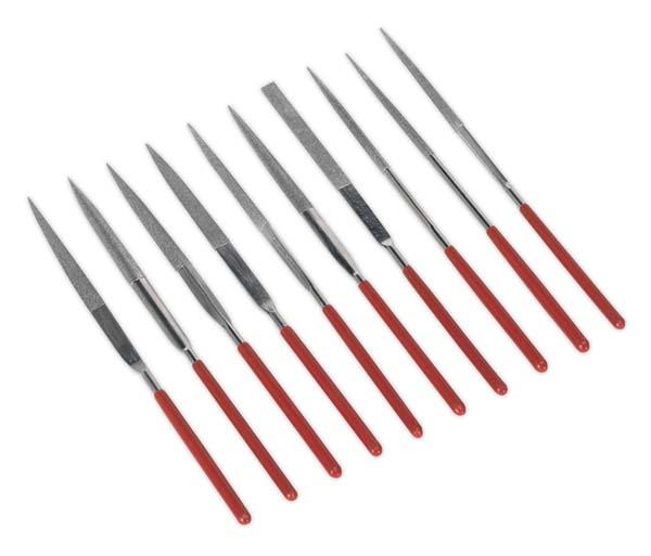 Sealey - AK577  Diamond Needle File Set 10pc