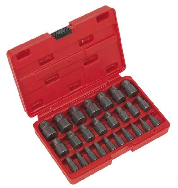 Sealey - AK8182  Multi Spline Screw Extractor Set 25pc