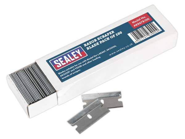 Sealey - AK867B100  Razor Scraper Blade Pack of 100