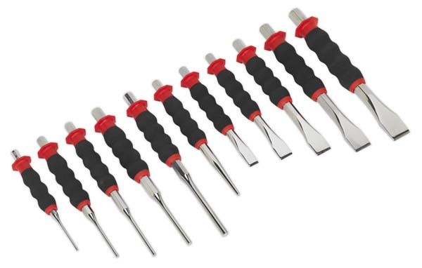 Sealey - AK9135  Sheathed Punch & Chisel Set 11pc