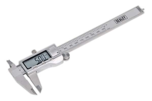 "Sealey - AK9621EV  Digital Vernier Caliper 0-150mm(0-6"") Stainless Steel"
