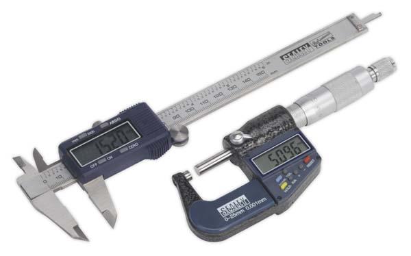 Sealey - AK9637D  Digital Measuring Set 2pc