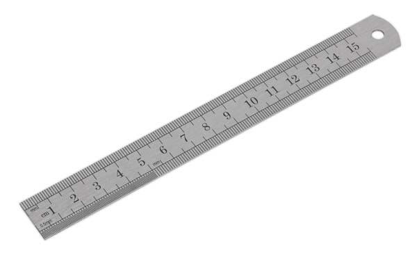 """Sealey - AK9640  Steel Rule 150mm/6"""""""