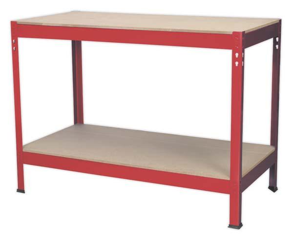 Sealey - AP1210  Workbench 1.2mtr Steel Wooden Top