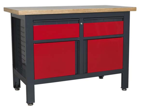 Sealey - AP1372A  Workstation with 2 Drawers & 2 Cupboards