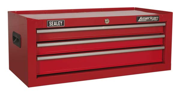 Sealey - AP223  Mid-Box 3 Drawer with Ball Bearing Slides - Red