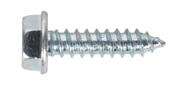 "Sealey - ASF103  Acme Screw Washer Faced Zinc #10 x 3/4"" BS 6982C Pack of 50"