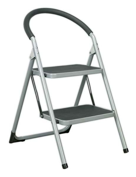 Sealey - ASL2  Step Stool 2-Tread 150kg Capacity EN14183