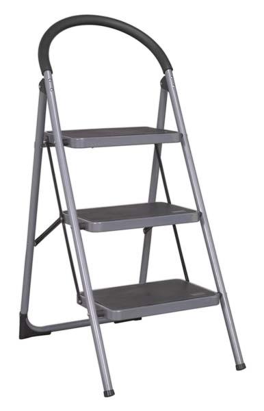 Sealey - ASL23  Step Stool 3-Tread 150kg Capacity EN 14183