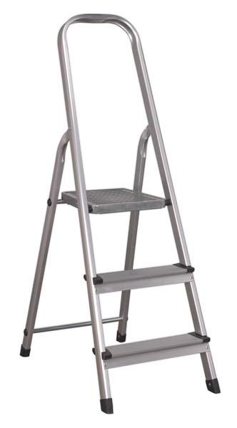 Sealey - ASL3S  Aluminium Step Ladder 3-Tread EN 131