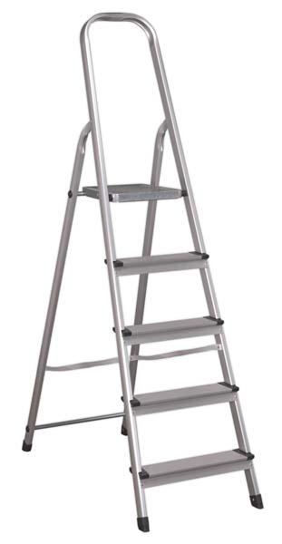 Sealey - ASL5  Aluminium Step Ladder 5-Tread EN 131