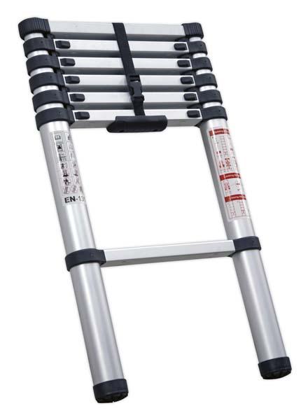 Sealey - ATL07  Aluminium Telescopic Ladder 7-Tread EN 131