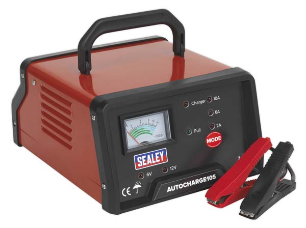 Sealey - AUTOCHARGE10S  Auto Maintenance High Frequency Battery Charger 6/12V 10Amp
