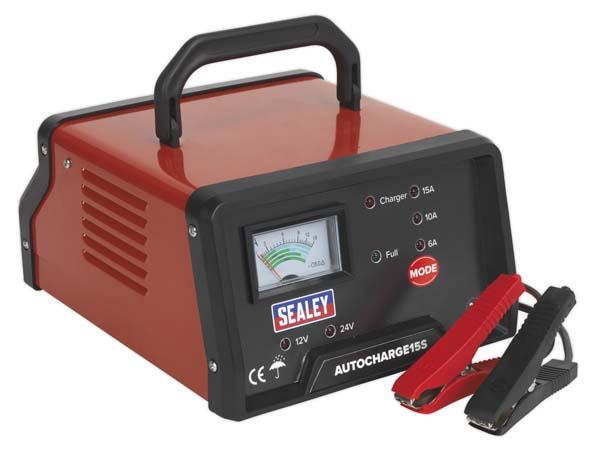 Sealey - AUTOCHARGE15S  Auto Maintenance High Frequency Battery Charger 12/24V 15Amp