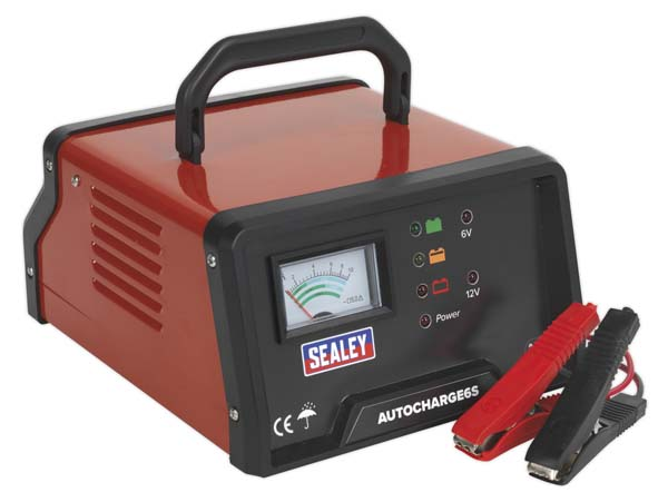 Sealey - AUTOCHARGE6S  Auto Maintenance High Frequency Battery Charger 6/12V 6Amp