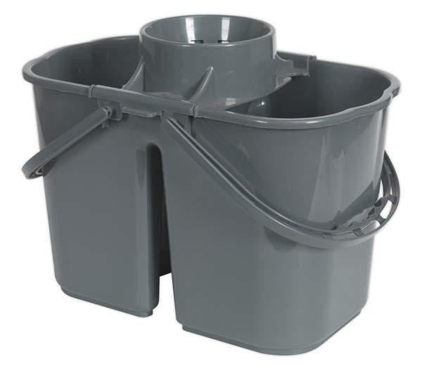 Sealey - BM07  Mop Bucket 15ltr - 2 Compartment