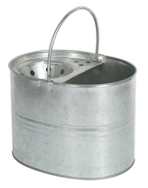 Sealey - BM08  Mop Bucket 13ltr - Galvanized