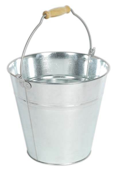 Sealey - BM10  Bucket 14ltr - Galvanized