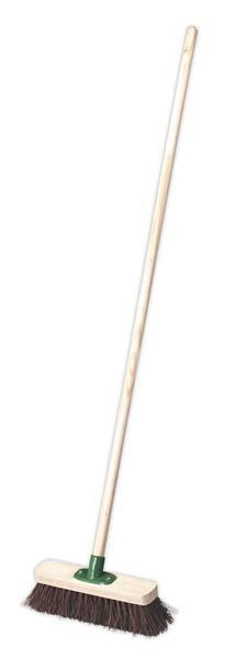 "Sealey - BM12H  Broom 12""(300mm) Stiff/Hard Bristle"
