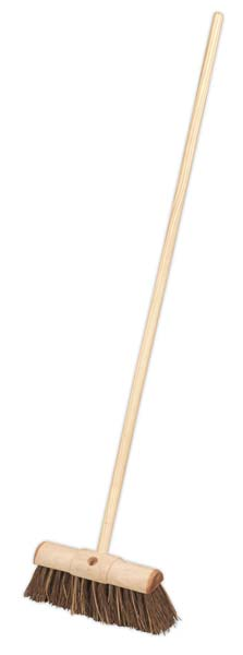 "Sealey - BM13HX  Broom 13""(325mm) Stiff/Hard Bristle"