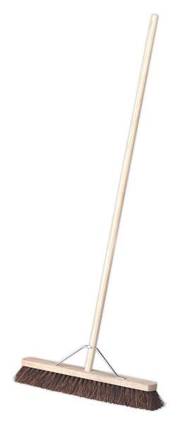 "Sealey - BM24H  Broom 24""(600mm) Stiff/Hard Bristle"