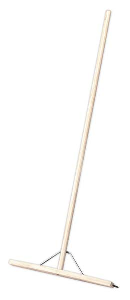 """Sealey - BM24RS  Rubber Floor Squeegee 24""""(600mm) with Wooden Handle"""