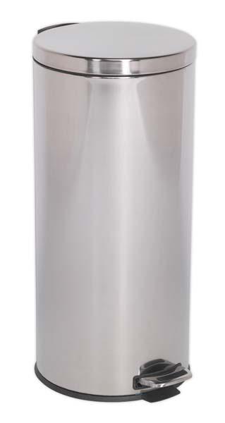 Sealey - BM71  Pedal Bin 30ltr Stainless Steel