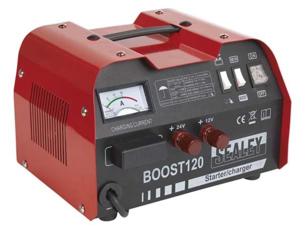 Sealey - BOOST120  Starter/Charger 120/20Amp 12/24V 230V